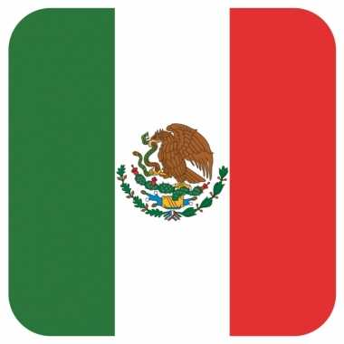 60x onderzetters voor glazen met mexicaanse vlag