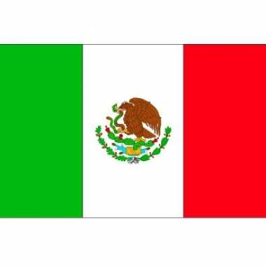 Mexicaanse 10x stickertjes mexico vlag 10 cm