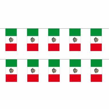 Mexicaanse 2x stuks papieren feest slinger vlaggetjes mexico 4 meter