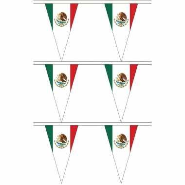 Mexicaanse 3x stuks mexico landen punt vlaggetjes 5 meter