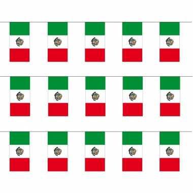 Mexicaanse 3x stuks papieren feest slinger vlaggetjes mexico 4 meter