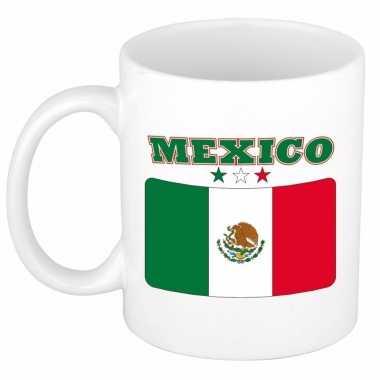 Mexicaanse beker / mok met vlag van mexico 300 ml
