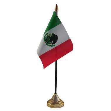Mexicaanse mexico versiering tafelvlag 10 x 15 cm