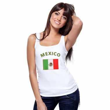 Mexicaanse vlag tanktop/ t-shirt voor dames
