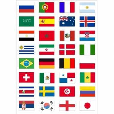 Mexicaanse wk 2018 voetbal feestversiering vlaggen deelnemende landen