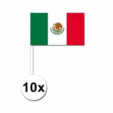 Mexicaanse  Zwaaivlaggetjes Mexico 10 stuks