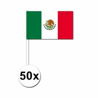 Mexicaanse  Zwaaivlaggetjes Mexico 50 stuks