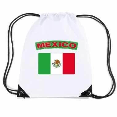 Nylon sporttas mexicaanse vlag wit