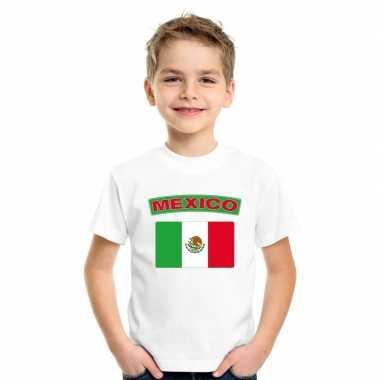 T-shirt mexicaanse vlag wit kinderen